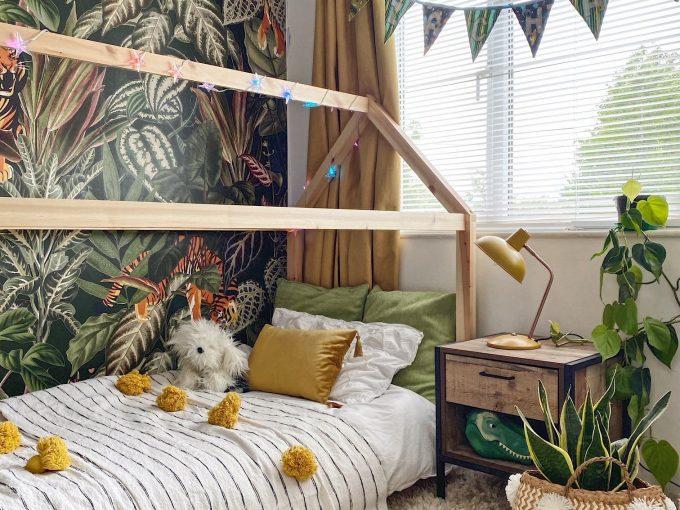 Cách thiết kế phòng ngủ như giữa khu rừng