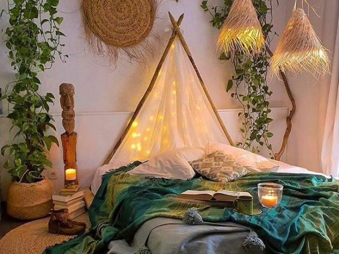 Thích thú với cách trang trí phòng ngủ đẹp đậm nét Bohemian