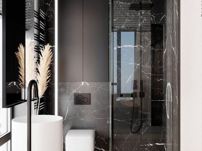 Nhà tắm hiện đại gam màu trung tính