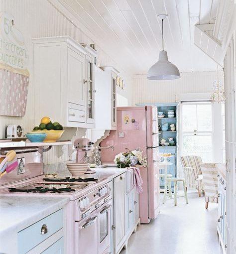 Refresh không gian nhà bếp đẹp với gam pastel điệu đà