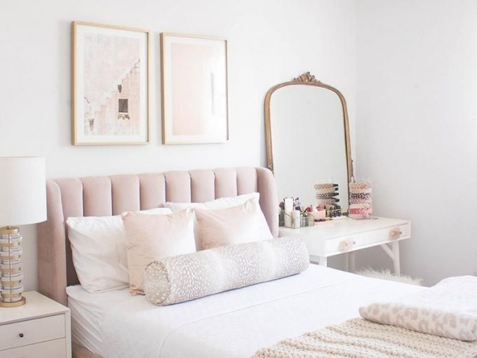 Nội thất phòng ngủ màu hồng đẹp mê mẩn dành cho các nàng