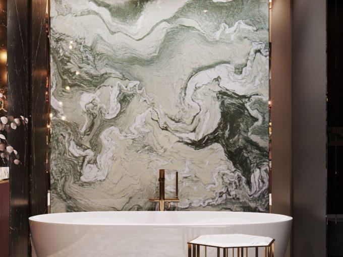Nhà tắm hiện đại và sang trọng với đá hoa văn