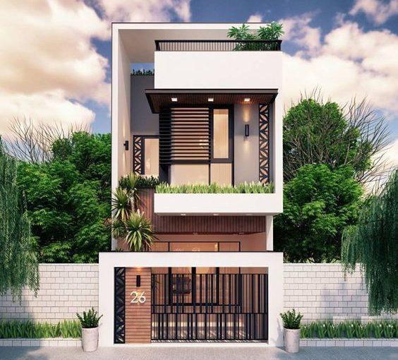 Thiết kế nhà phố hiện đại vừa đẹp mắt lại có mức giá hợp lí