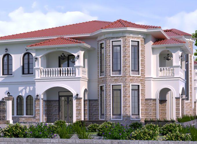 Thiết kế biệt thự theo lối kiến trúc Địa Trung Hải mộc mạc nhưng vô cùng tinh tế