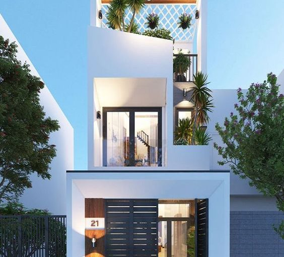 10 mẫu nhà mặt phố đẹp cho mái ấm gia đình bạn